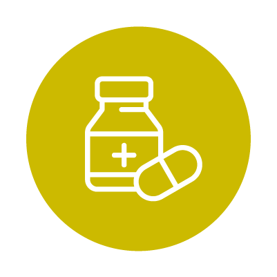 Bright Green Medication Icon